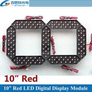 """Image 1 - 4 قطعة/الوحدة 10 """"اللون الأحمر في الهواء الطلق 7 سبعة الجزء LED وحدة عدد الرقمية للغاز سعر LED وحدة العرض"""