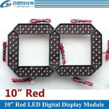 Módulo LED Digital de 7 segmentos para exteriores, 10 pulgadas, Color rojo, para Módulo De Pantalla LED de precios de Gas, 4 unidades por lote