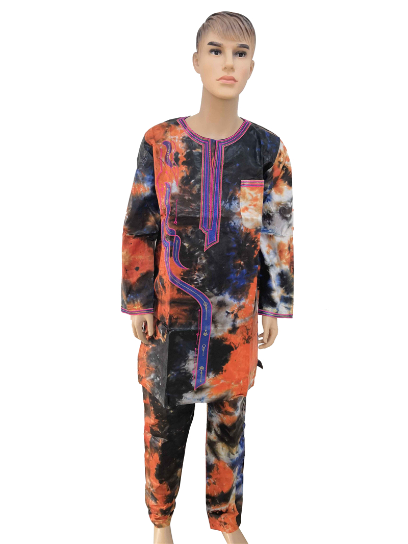 MD african men clothes long sleeves tops pants suit traditional african men clothing south africa bazin riche dashiki shirt PH18Africa Clothing   -