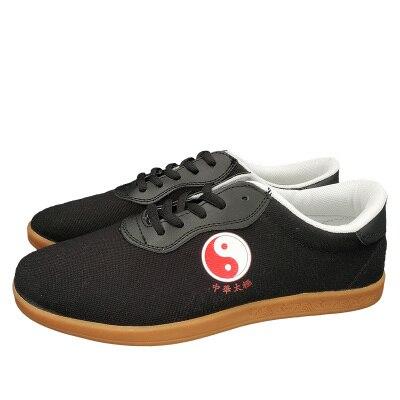 Plus size 45 taichi schoenen vechtsport schoenen taiji schoenen voor taichi karate taekwondo wushu training zwart