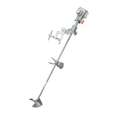 Cleaver 300 Blackout: 1/8HP Pneumatic Mixer Air Agitator With Clamp-in Pneumatic