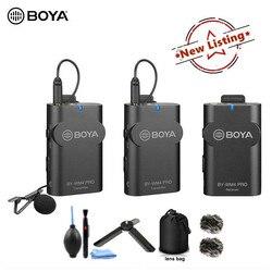 BOYA BY-WM4 Pro BY-WM4 Mark II Wireless Studio Condenser Microphone System Lavalier Lapel Interview Mic for Canon Nikon Cameras
