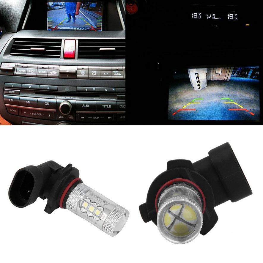 2Pcs Car 9005 HB3 80W LED Projector High Power White Car Auto DRL Daytime Running Light Headlight Fog Lamp Bulb DC12V Bright LED