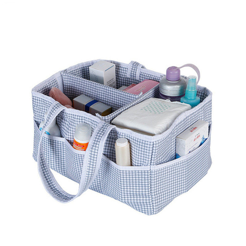 Removable Foldable Diapers Organizer Nursery Storage Bag for Baby Supplies Wipes Paper Diaper Toys Portable Car Storage Basket