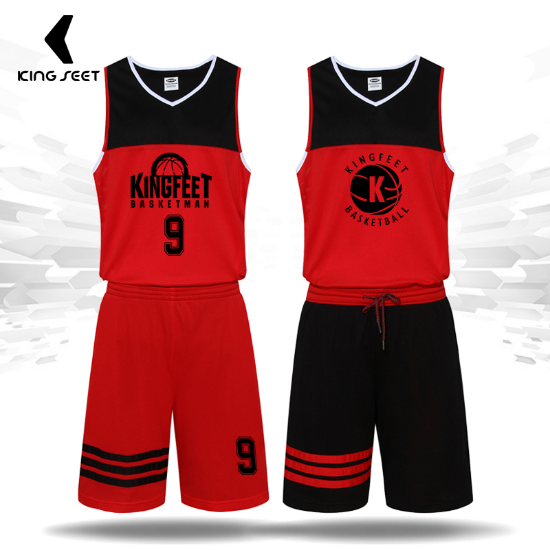 c30100224918f2 Men s Basketball Jersey Team Training Suit Reversible Shorts Summer  Breathable Sweat Large Size Clothes Custom 2017 Quick Dry