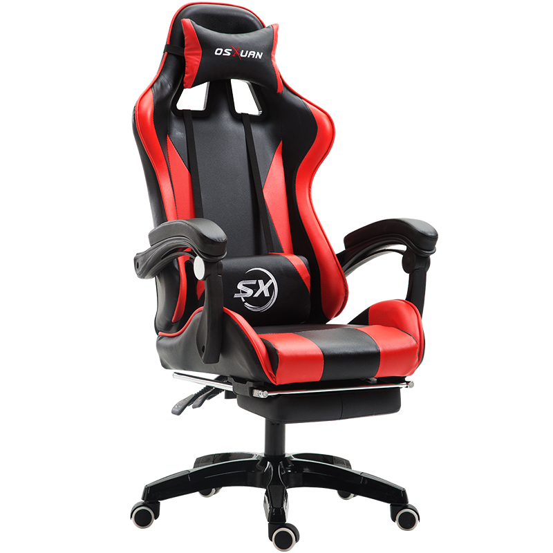 Multi Function Gaming Chair Lifted Swivel Massage Office Chair Reclining Computer Chair With Footrest Silla Gamer Cadeira Gamer