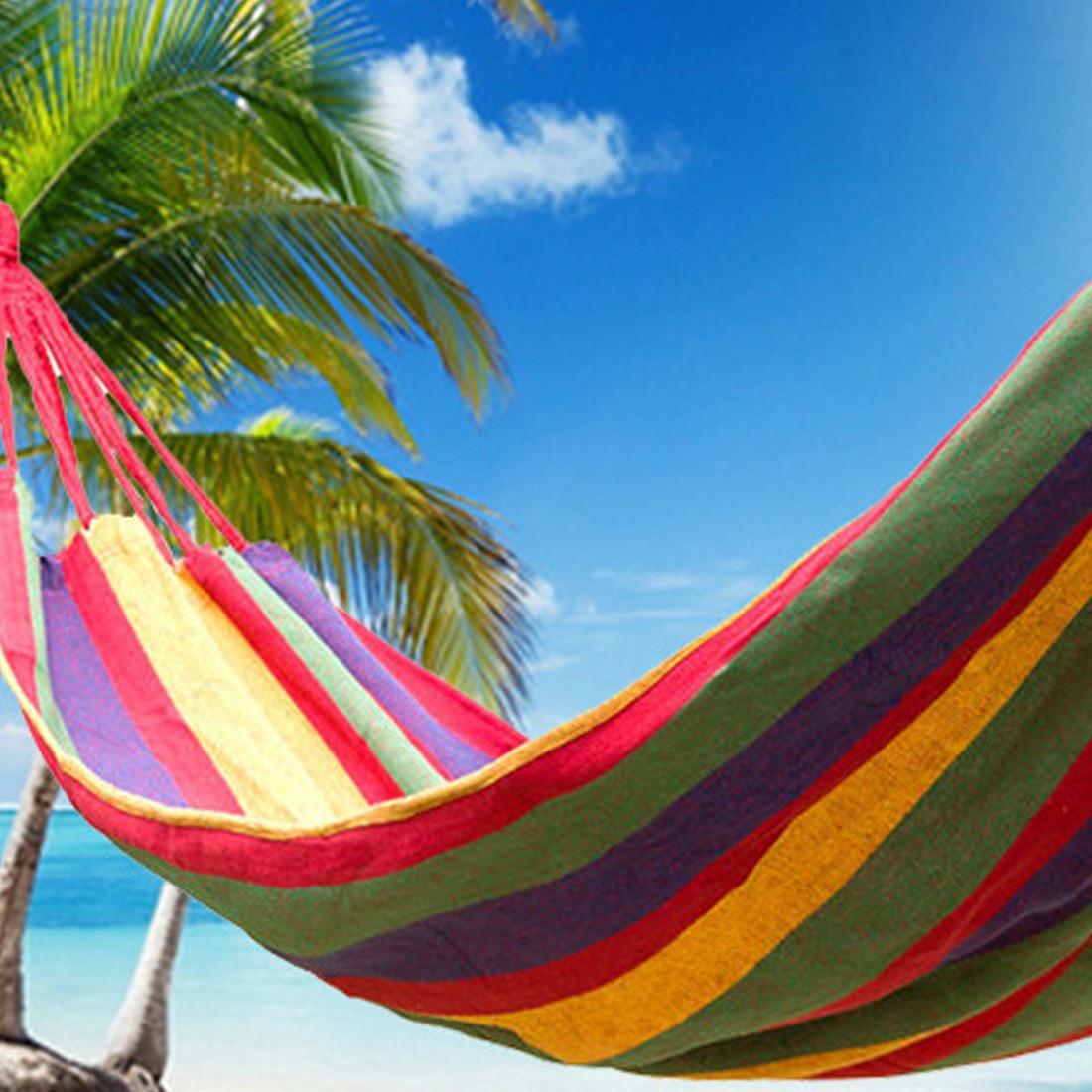2018 NEW 1 Set Portable 150 kg Load-bearing Outdoor Garden Hamac Hang Bed Travel Camping Swing Survival Outdoor Sleeping