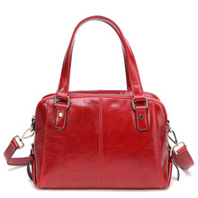 2014 new leather first layer of oil wax leather handbag Crossbody Bag European Fashion Shoulder Bag 0703