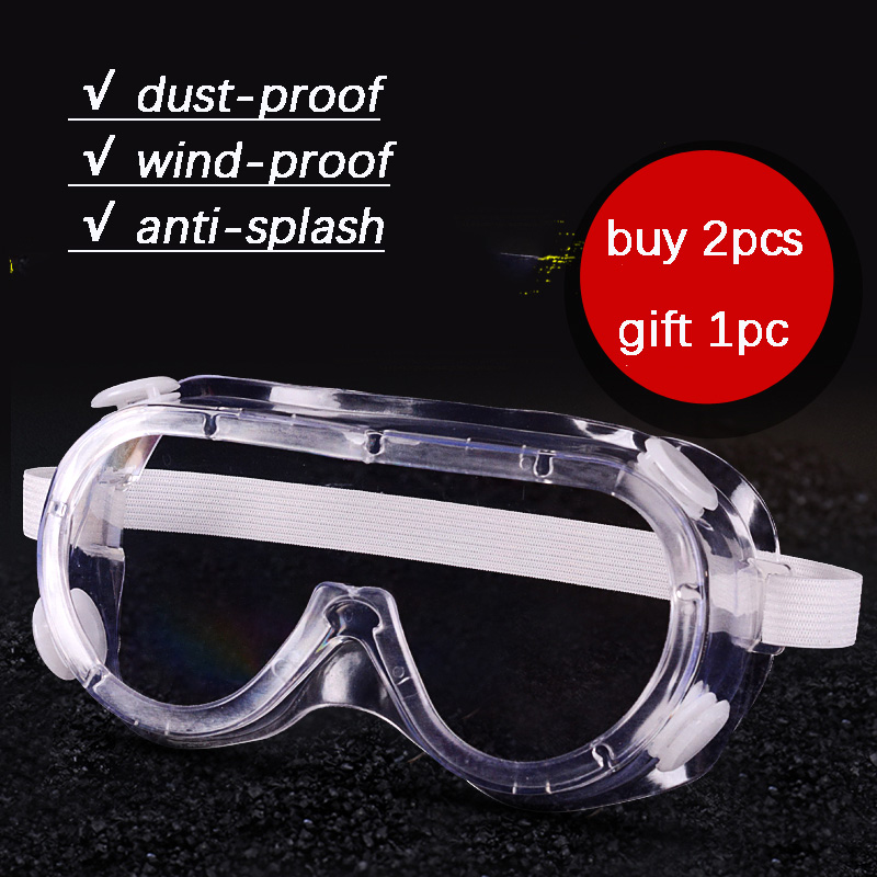 Transparent Work Safety Goggles Dustproof And Windproof Liquid Anti-splash Riding Protective Glasses