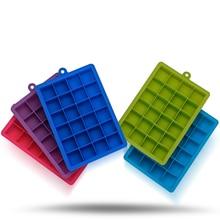 DIY Творческий 24 Сетки Большой Ice Cube Плесень квадратный Форма силиконовые для льда фрукты Ice Cube чайник Бар Кухня аксессуары