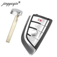 jingyuqin 4B White Modified Smart Remote Key Fob 315MHz/ 434MHz / 868MHz for BMW CAS4 CAS1 2 3 4 5 6 7 X5 X6 CAS4+ FEM 2011 2017