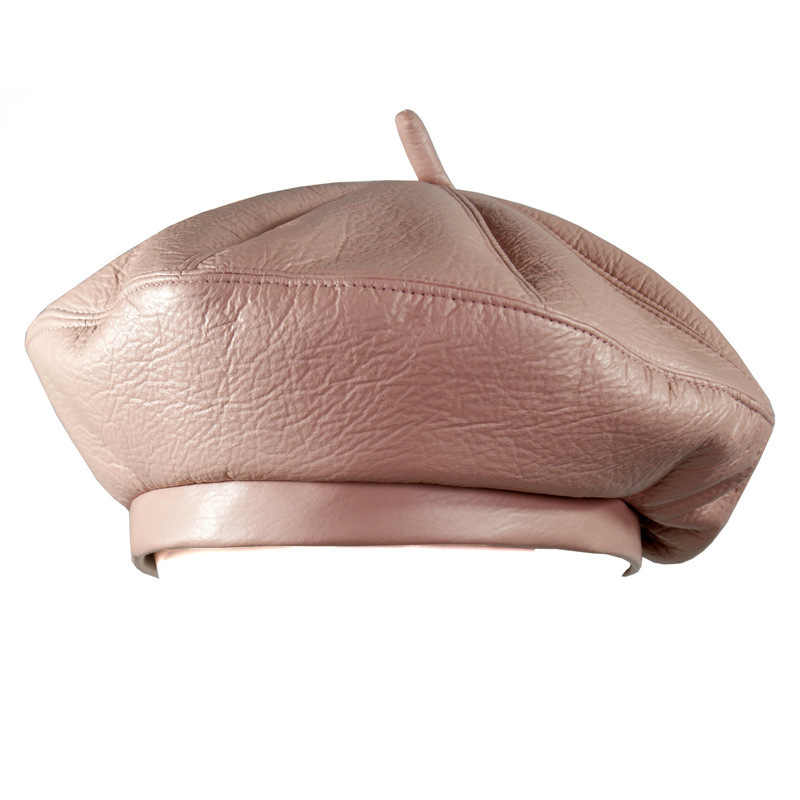... Women PU Leather Octagonal Caps Newsboy Cap Vintage Bonnet Beret Style  Retro Leather Hat Cowboy French ... 636ee2888bac