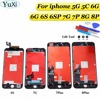 YuXi LCD Screen For IPhone 7G 7Plus 8G 8P Display Touch Glass Digitzer Replacement Check Test