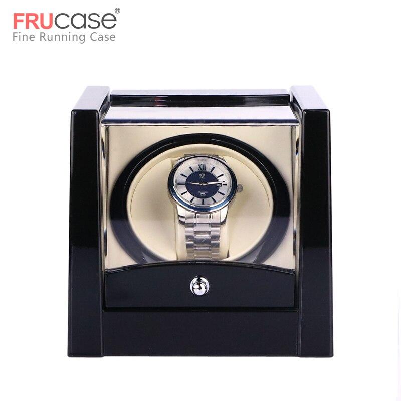 자동 시계 시계 상자에 대 한 블랙 단일 시계 와인 더 자동 와인 더 스토리지 디스플레이 케이스 상자-에서시계 박스부터 시계 의  그룹 1