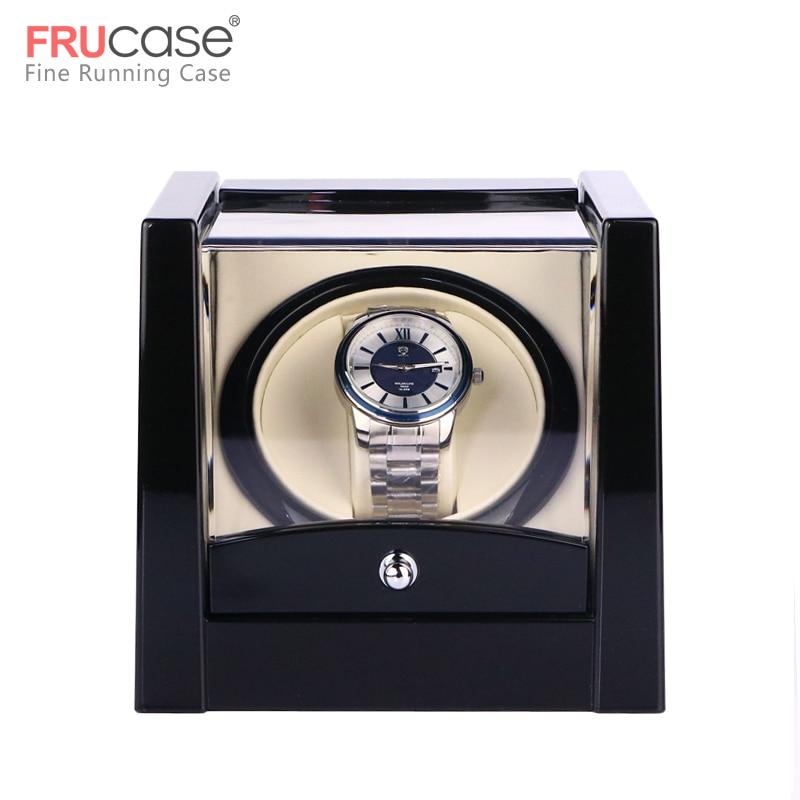 Remontoir de montre unique noir pour montres automatiques boîte de montre boîte de rangement de remontoir automatique