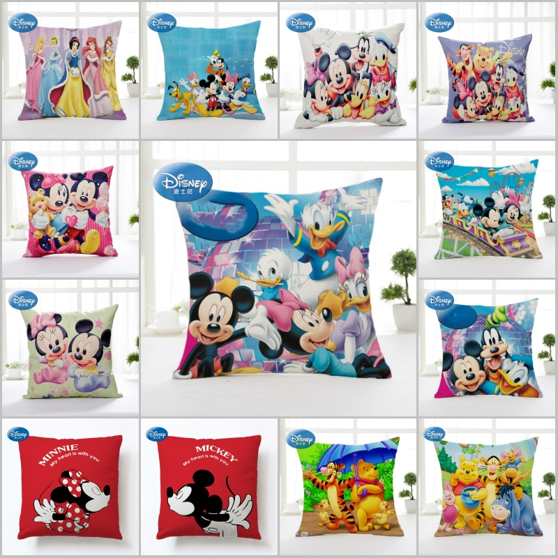 Disney Cartoon Winnie Mermaid Princess Decorative/nap Pillow Cases Cover 1Pcs Pillowsham Cushion Cover For Children 45x45cm