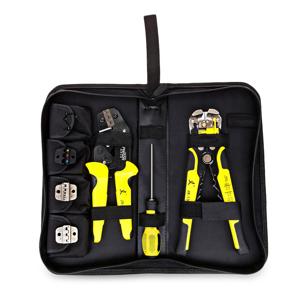PARON multi tool wire Crimper Kit 4 In 1 + Wire Stripper Engineering Ratcheting Terminal