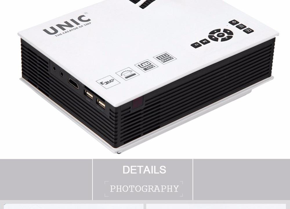 Original unic uc40 led projector 3d mini pico portable for Mini hdmi projector