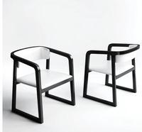 Nordic стул Современные Простые бытовые твердый деревянный стул ресторан отеля офисное кресло для переговорной ленивый спинку стула.