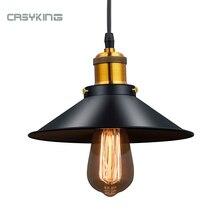 Vintage Industrial Pendant Light Retro Ceiling Lamp Black Iron Lampshade Nordic E27 Edison Lamp for Dining Bedroom Restaurant