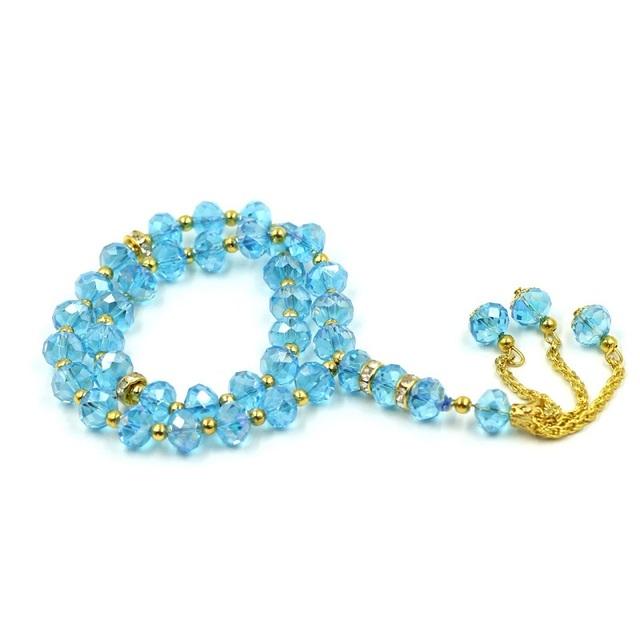 Muslim Tasbih Colorful Crystal Tasbih Prayer Beads 33 Beads 99 Beads Bracelet the Bracelet Islamic Tasbih