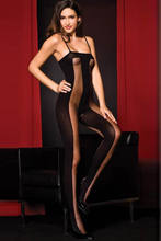 Hirigin Sexy Women's High Waist off shoulder Shiny Body stocking Open Babydoll Striped Sleepwear Black(China)