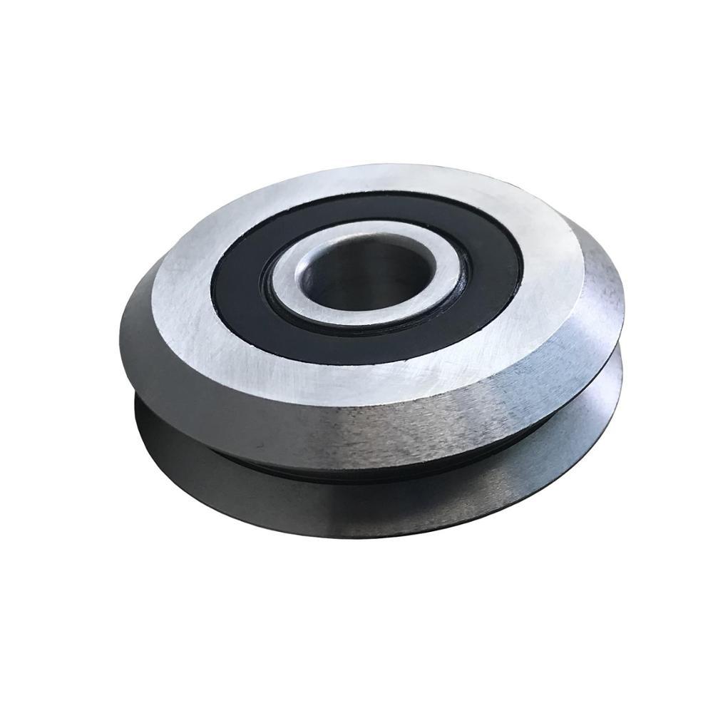 Купить с кэшбэком 3/16 Bore Diameter RM1ZZ RM1-2RS W1ZZ W1-2RS RM1 W1 V Groove Track Roller Bearing 4.763x19.56x7.87mm Guide Wheel Bearing