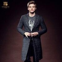 Free Ship fanzhuan fashion casual male Winter Men's man long slim warm thickening suit tailored collar Cotton jacket coat 610148