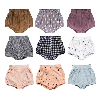 Summer Boys Shorts Cute Girls Short Bloomers Newborn Briefs Diaper Cover Infant Panties Elastic Big PP Pants Cotton Bread Pants