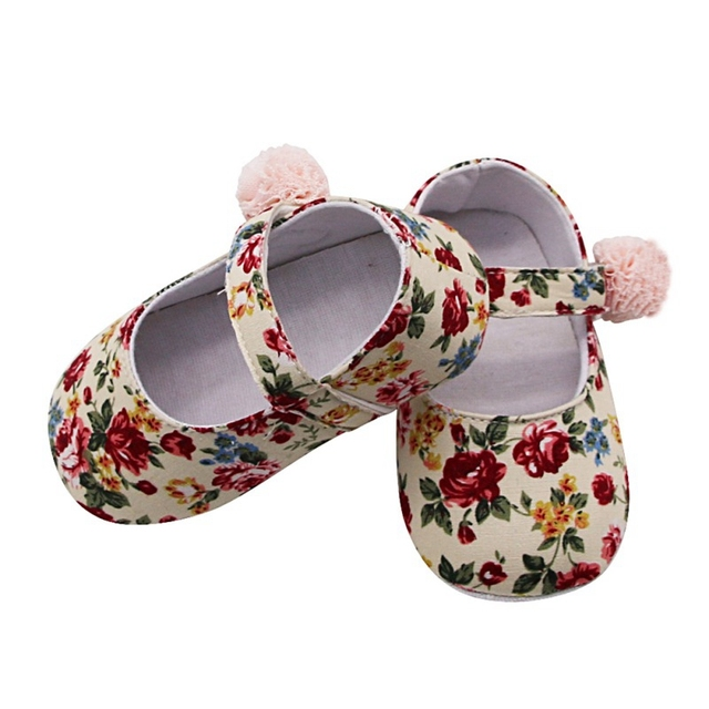 Baby Shoes Girl Breathable Floral Print Anti-Slip Shoes Casual Walking Shoe Toddler Soft Soled First Walkers | Happy Baby Mama