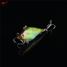 1PCS 2016 New Arrival Good Quality 6 Colors 6cm 13g Hard Bait VIB Fishing Lures Bass Fresh Salt Water With Two 6# Treble Hooks