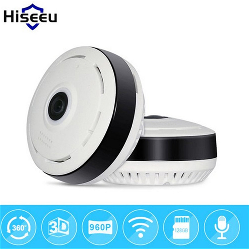 hiseeu 960P HD Fisheye IP Camera 360 degree Full View CCTV Camera Wireless Network Home Security WiFi VR Camera Night Vision цена