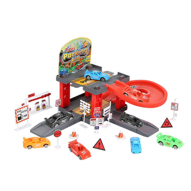 Wheels Track Car Racing Track Toy 3D Car Parking Lot Car Random Assemble Railway Rail Car Toy for Children XWJ431-