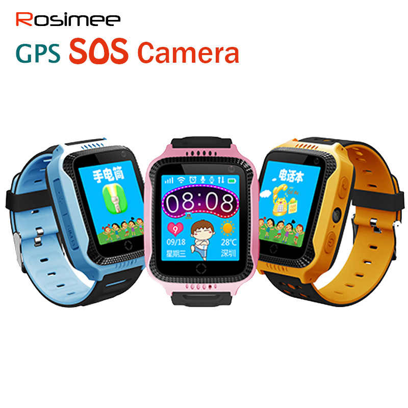 Rosimee Q528 GPS Smart Watch With Camera Flashlight Baby Watch SOS Call Location Device Tracker for Kid Safe PK Q100 Q90 Q60 Q50
