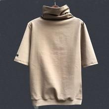 Women tshirt Mandarin Collar Long and short sleev Solid color women blouse for winter spring autumn Cotton
