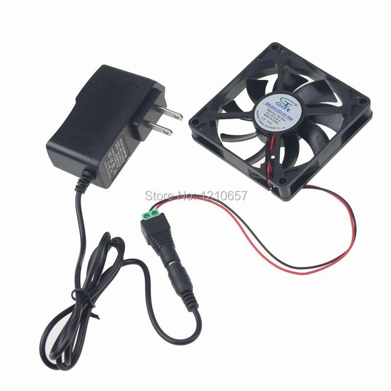 2PCS lot Gdstime 80mm x 15mm 8015 Ball Bearing Case Cabinet Fan Cooling 110V 120V AC 31CFM original delta afb0912shf 9032 9cm 12v 0 90a dual ball bearing cooling fan