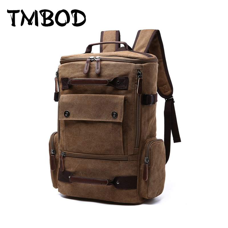 New 2018 Men Casual Canvas Military Mountaineer Backpack Travel School Bag Women Large Capacity Backpacks Shoulder Bags an675