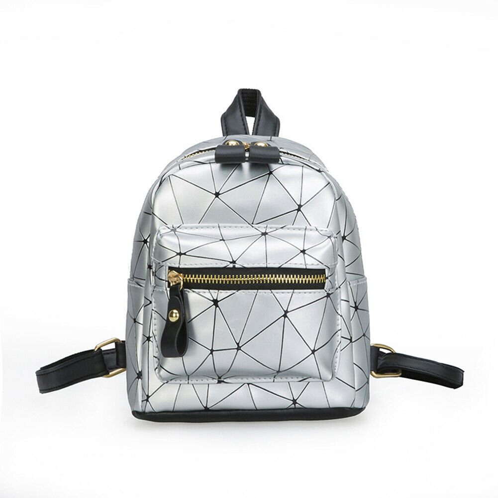 Women's Backpack Fashion Mini Bag Diamond Shape PU Leather School Bag Canta Shoulder Bag
