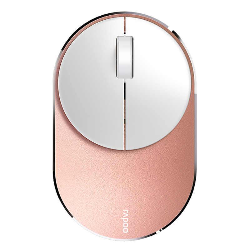 Rapoo M600 オリジナルファッションポータブルワイヤレスマウスサイレントマルチモードの bluetooth 光学式マウスビジネスオフィス