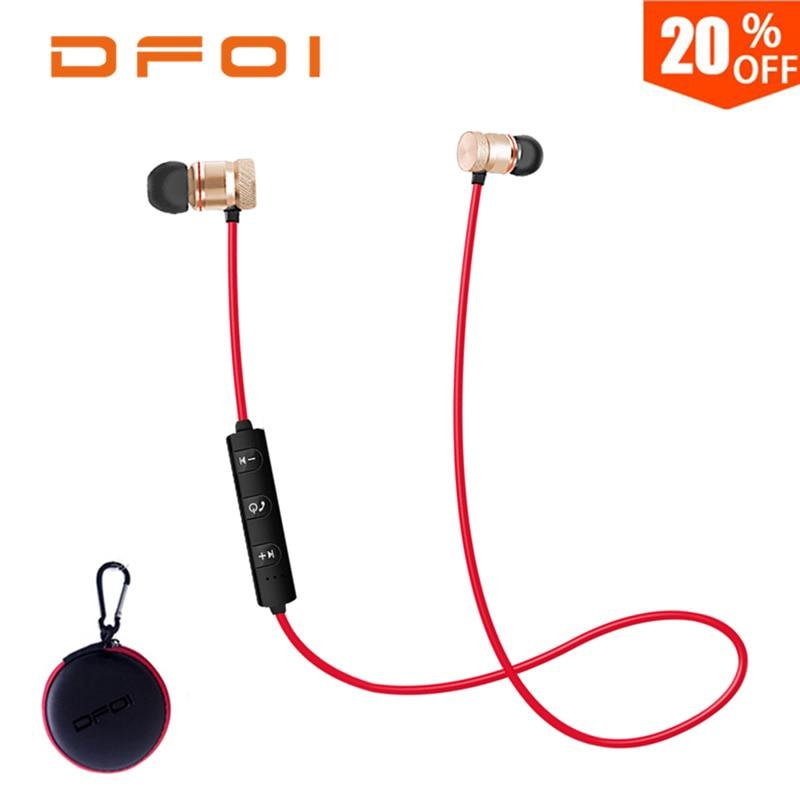 DFOI Wireless Sport Bluetooth Kopfhörer Kopfhörer Drahtlose Ohrhörer Apt-x Stereo Headset Für Xiaomi Android Telefon Mit Mic
