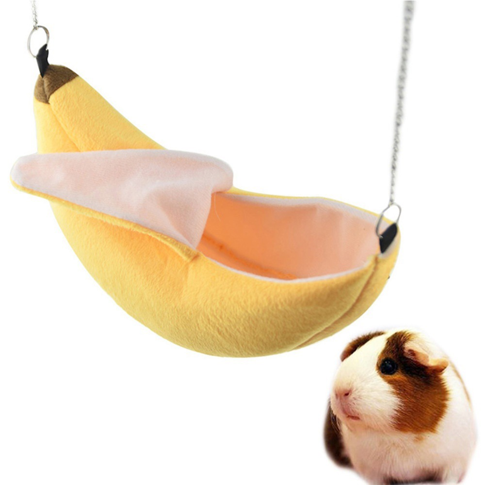 Small Pet Hamster Hanging House Hammock Banana Sleeping Nest Bed Pet Swing Cotton Cage Toys Small Animal Accessories