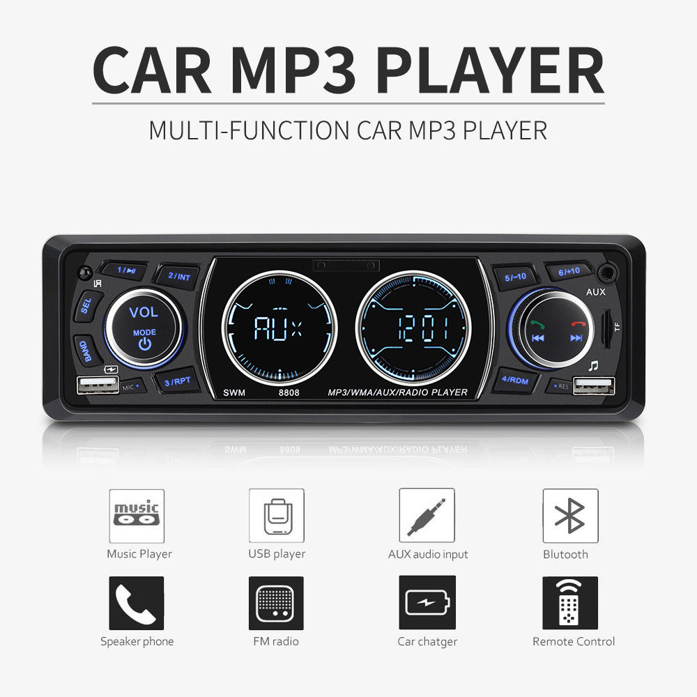 EDAL Remote Control 1Din Radio Player Stereo Auto Multimedia Player Car Audio Bluetooth FM /AUX Handsfree Call USB SD Car MP3