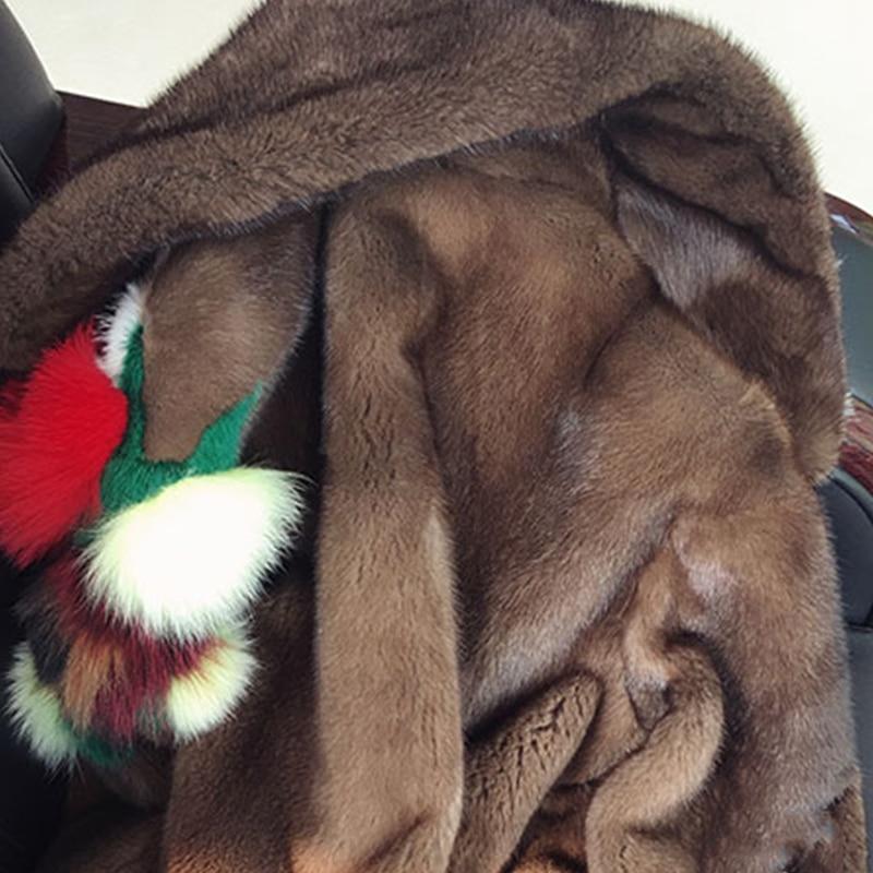 LVCHI 2019 Baru Denmark Mink Swan Beludru wanita Mulia Floral Fox - Pakaian Wanita - Foto 5