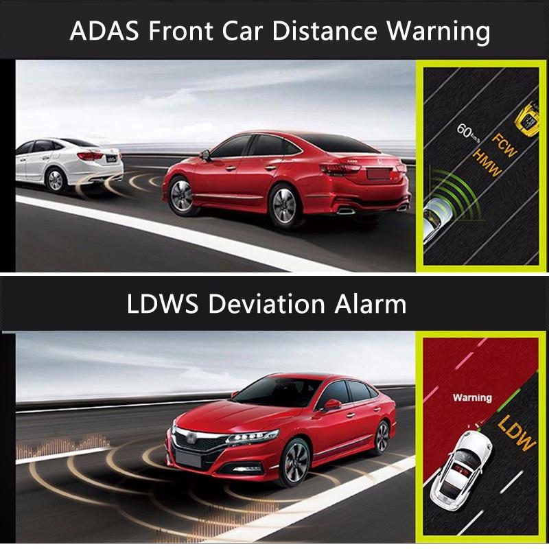 E-ACE Auto DVR Camera Dashcam Dual Lens Met LDWS ADAS - Auto-elektronica - Foto 3