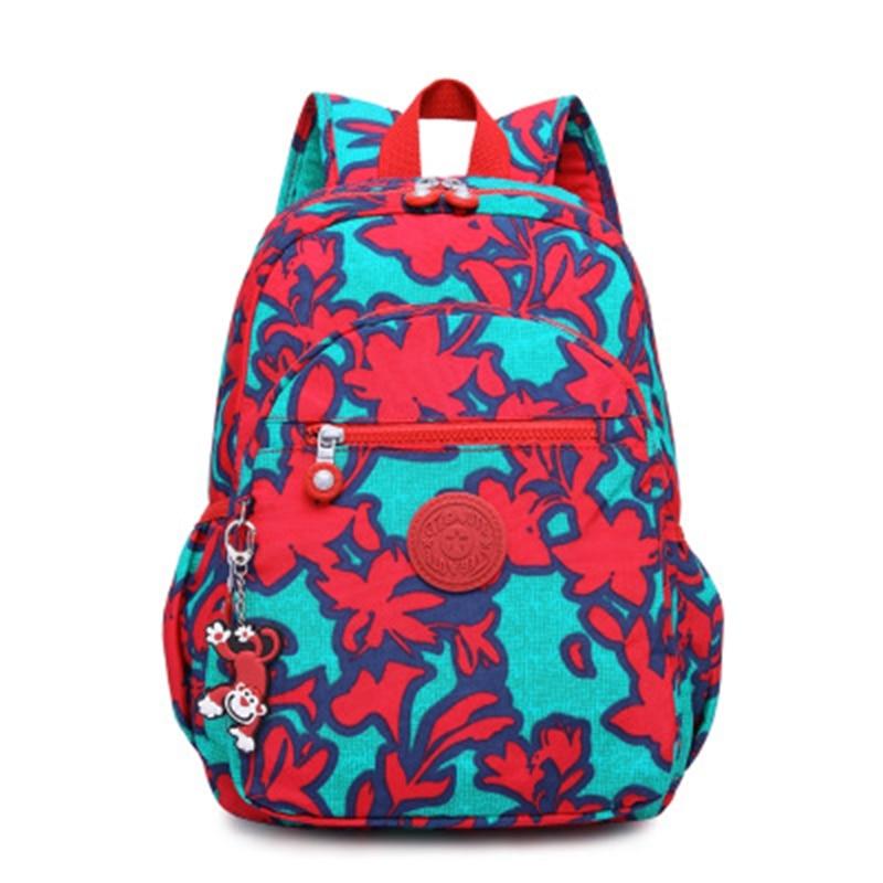 TEGAOTE Floral Mini Small Backpack for Teenage Girls Mochila Feminine Backpack Casual Nylon Waterproof Women Backpack 1318 рюкзак waterproof nylon backpack 10 travelbag mochila aimi919