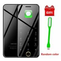 Ulcool V66 Luxury Mobile Phone Mini Card Phone Bluetooth Dialer 1.67Inch Ultra Slim Metal Body Anti Lost Small Mobile Phone