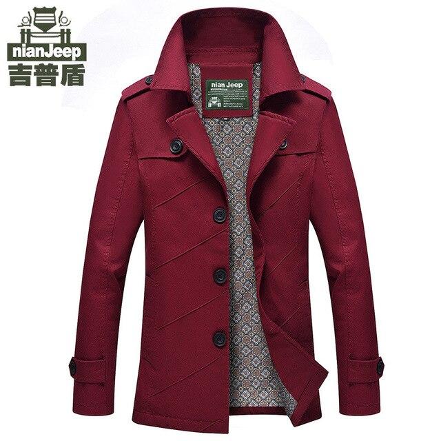 Neue Herrenmode Design Jacke khaki Schwarze Formale winter anzug kragen jacke  dünne feste baumwollmantel marke kleidung 879b5564d8