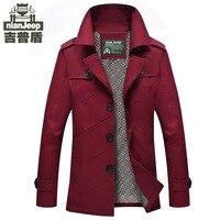 Neue Herrenmode Design Jacke khaki Schwarze Formale winter anzug kragen jacke dünne feste baumwollmantel marke kleidung m-4xl