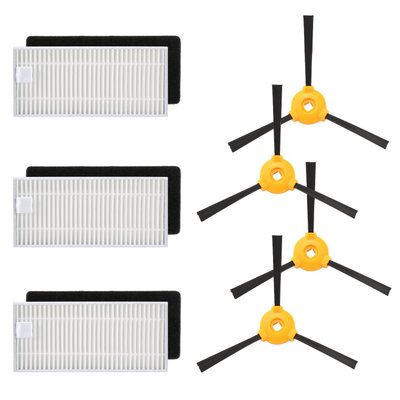 4x Side brush + 3x HEPA filter + 4x Sponge filters for Ecovacs DEEBOT N79 Robotic Vacuum Cleaner Parts Accessory original l r side brush motor module assembly parts for ecovacs deebot cr130 cen640 component accessory