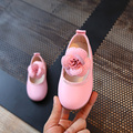 Girls Princess Shoes 2017 New Spring PU Leather Flowers Kids Fashion Shoes for Children Single Shoe lace-up size 21~30